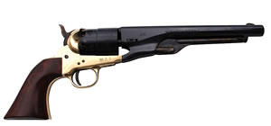 Traditions 1860 Colt Revolver FR18601, 44 Black Powder, Walnut Grips, Brass Frame/Steel Barrel, Single Action