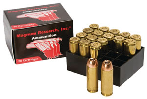 Magnum Research DEP50HP/XTP300, 50 Action Express, Jacketed Hollow Point, 300 GR, 1475 fps, 20 Rd/bx