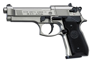 Umarex Beretta 92 Semi-Automatic .177 Caliber CO2 Pistol w/Nickel Finish 2253001