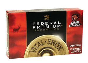 Federal Premium Vital Shok PB203RS, Truball, 20 Gauge, 2 3/4 in, 3/4 oz, 1600 fps, Lead Rifle Slug, 5 Rd/bx