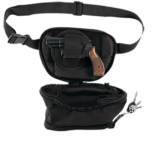 Bulldog Fanny Packs BD870, Black, Water Resistant Nylon