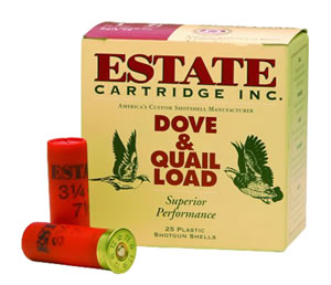 Estate Extra Heavy Upland Game XHG1275, 12 Gauge, 2 3/4 in, 1 1/4 oz, Lead, 1220 fps, Shot #7 1/2, 25 Rd/bx, Case of 10 Boxes