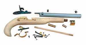 Traditions  Kentucky Pistol Kit KPC50602, 50 CAL Black Powder, Hardwood, Blue, Cap Lock