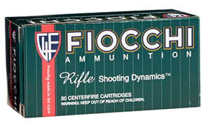 Fiocchi Shooting Dynamics Rifle Ammunition 223A, 223 Remington, Full Metal Jacket, 55 GR, 3240 fps, 50 Rd/bx