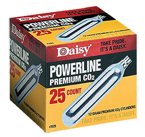 Daisy 25 Count CO2 Cylinders, Model 7025