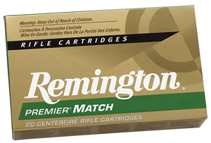 Remington Centerfire Rifle Cartridges 223R6, 223 Remington, Hollow Point Match, 62 GR, 3035 fps, 20 Rd/bx