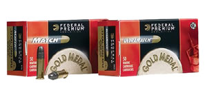 Federal Premium Gold Medal Rimfire Ammunition UM22, 22 Long Rifle, Ultra Match, 40 GR, 1080 fps, 50 Rd/bx