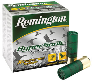 Remington HyperSonic Steel HSS12M6, 12 Gauge, 3 in, 1 1/4 oz, 1700 fps, #6 Steel Shot, 25 Rd/bx, Case of 10 Boxes
