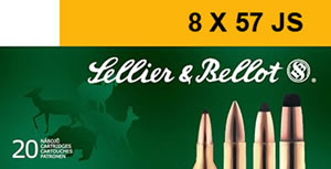 Sellier & Bellot Ammunition SB857JRA 8x57 JR, Soft Point, 196 GR, 2329 fps, 20 Rd/bx