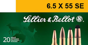 Sellier & Bellot Ammunition SB6555A 6.5x55 Swedish, Soft Point, 131 GR, 2602 fps, 20 Rd/bx