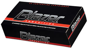 CCI Blazer Handgun Centerfire Ammunition 3509, 9 mm, Full Metal Jacket, 115 GR, 1145 fps, 50 Rd/bx