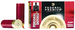 Federal Premium Personal Defense Shotshells PD13200, 12 Gauge, 2 3/4 in, 9 Pellets, 1145 fps, #00 Buck, 5 Rd/bx