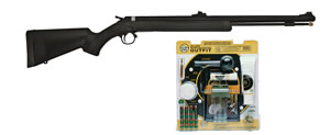 CVA Wolf Outfit 50 Muzzleloader PR2110VP, 50 Black Powder, Black, Blue, Break Open