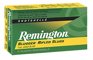 Remington Slugger Rifled Slug, SP12RS, 12 Gauge, 2 3/4 in, 1 oz, 1560 fps, Lead Foster-Style Slug, 5 Rd/bx
