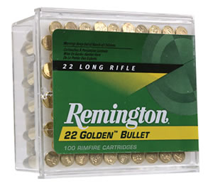 Remington Rimfire Ammunition 1500, 22 Long Rifle, Plated Lead Round Nose, 40 GR, 1255 fps, 100 Rd/bx