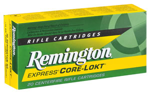 Remington Centerfire Rifle Cartridges R65SWE1, 6.5 MM X 55 MM Swede, Core-Lokt Pointed Soft Point, 140 GR, 2550 fps, 20 Rd/bx