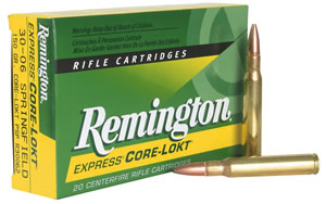 Remington Centerfire Rifle Cartridges R270W2, 270 Winchester, Pointed Soft Point Core-Lokt, 130 GR, 2710 fps, 20 Rd/bx