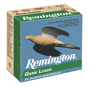 Remington Game Loads GL126, 12 Gauge, 2 3/4 in, 1 oz, 1290 fps, #6 Lead Shot, 25 Rd/bx, Case of 10 Boxes