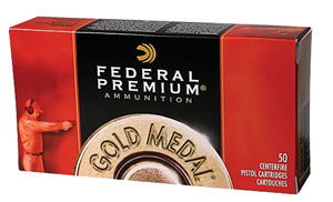 Federal Premium Gold Medal Ammunition GM45B, 45 ACP, Full Metal Jacket Semi Wadcutter, 185 GR, 780 fps, 50 Rd/bx