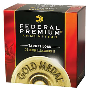 Federal Premium Gold Medal Handicap Paper Target HV T1718, 12 Gauge, 2 3/4 in, 1 1/8 oz, 1235 fps, #8 Lead Shot, 25 Rd/bx, Case of 10 Boxes