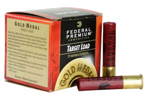 Federal Premium Gold Medal Plastic Target T41285, 410 Gauge, 2 1/2 in, 1/2 oz, 1230 fps, #8 1/2 Lead Shot, 25 Rd/bx, Case of 10 Boxes