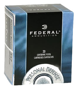Federal Personal Defense Ammunition C40SWA, 40 S&W, Jacketed Hollow Point, 180 GR, 1000 fps, 20 Rd/bx