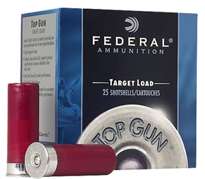 Federal Premium Top Gun Target TG208, 20 Gauge, 2 3/4 in, 7/8 oz, 1210 fps, #8 Lead Shot, 25 Rd/bx, Case of 10 Boxes