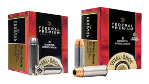 Federal Premium Vital Shok Ammunition PD454SA, 454 Casull, Swift A-Frame, 300 GR, 1520fps, 20 Rd/bx