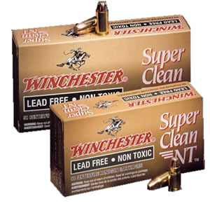 Winchester Super Clean NT Centerfire Handgun Ammunition SC9NT, 9 MM, Jacketed Flat Point Super Clean NT, 105 GR, 1200 fps, 50 Rd/bx