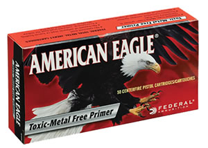 Federal American Eagle Ammunition AE40N1, 40 S&W, Total Metal Jacket, 180 GR, 990 fps, 50 Rd/bx