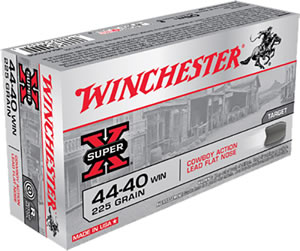 Winchester Cowboy Loads USA4440CB, 44-40 Winchester, Lead, 225 GR, 750 fps, 50 Rd/bx