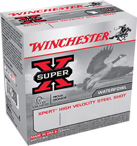 Winchester Xpert High Velocity Steel WEX12H4, 12 Gauge, 2 3/4 in, 1 1/8 oz, 1400 fps, #4 Steel Shot, 25 Rd/bx, Case of 10 Boxes