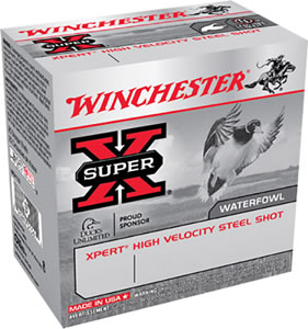 Winchester Xpert High Velocity Steel WEX1234, 12 Gauge, 3 in, 1 1/8 oz, 1550 fps, #4 Steel Shot, 25 Rd/bx, Case of 10 Boxes