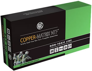 RWS Copper Matrix NTF Ammunition CM357S, 357 Sig, Non Toxic/Frangible, 100 GR, 1485 fps, 50 Rd/bx