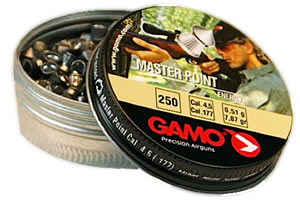 Gamo .177 Caliber Master Point Soft Point Pellets/250 Count 632063454