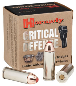 Hornady Critical Defense Ammunition 90250, 9 mm, 115 GR, Flex Tip Expanding, 25 Rd/Bx