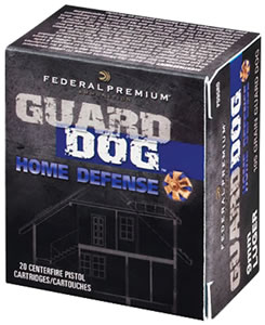 Federal Guard Dog Home Defense Ammunition PD9GRD, 9mm, Full Metal Jacket, 105 GR, 1230 fps, 20 Rd/bx