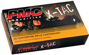PMC X-TAC 556X, 5.56 NATO, Full Metal Jacket Boat-Tail, 55 GR, 3270 fps, 20 Rd/bx
