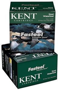 Kent Fasteel Waterfowl K122ST302, 12 Gauge, 2.75 in, 1 1/16 oz, 1550 fps, #2 Steel Shot , 25 Rd/bx