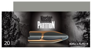 Sellier & Bellott Ammunition SB308NSRA 308 Win, Nosler Partition, 180 GR, 2444 fps, 20 Rd/bx