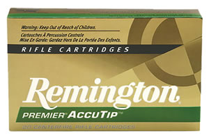 Remington Rifle Ammunition PRA300AAC5, 300 AAC Blackout, AccuTip Boat Tail, 125 GR, 20 Rd/bx