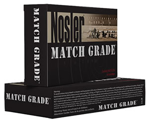 Nosler Trophy Match Ammunition 60052, 308 Win, Custom Competition, 155 GR, 20 Rd/bx