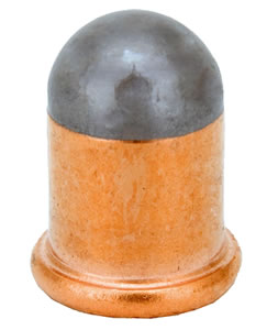 RWS 2130505, Round Flobert Bulleted Cartridges, Copper, 6mm/.22 Cal, 100 Rds