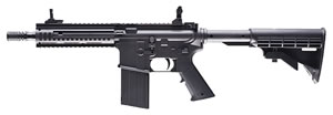 Umarex 2254855, Steel Force Air Rifle, M4 Carbine Style, Semi and Fully Automatic, .177 Cal, Black Synthetic Collapsible Stock, Black Finish