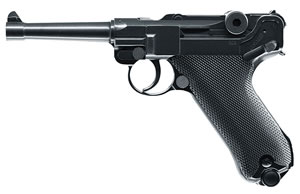 Umarex 2251800, Luger P08 CO2 Legends Air Pistol, Semi-Automatic, .177 Cal