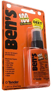 Adventure Medical Kits 00067070, Bens 100 Max Tick and Insect Repellent, 1.25 oz, Orange, 12 Count