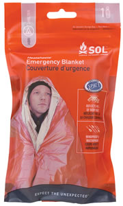 Adventure Medical Kits 01401222, SOL Emergency Blanket, One Person, Orange