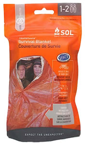 Adventure Medical Kits 01401701, SOL Survival Blanket, 2 Person, Orange