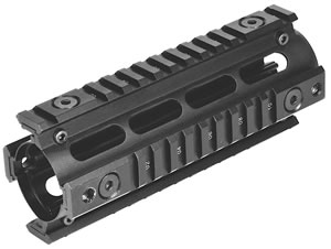 NCStar MAR4S AR15 Quad Rail For Carbine Weaver Style Matte Black