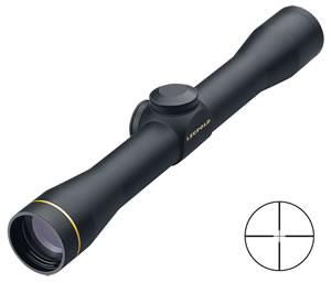 Leupold FX-II Scout Fixed Power Rifle Scope 58810, 2.5x, 28mm Obj, 1 in Tube Dia, Matte, Duplex Reticle